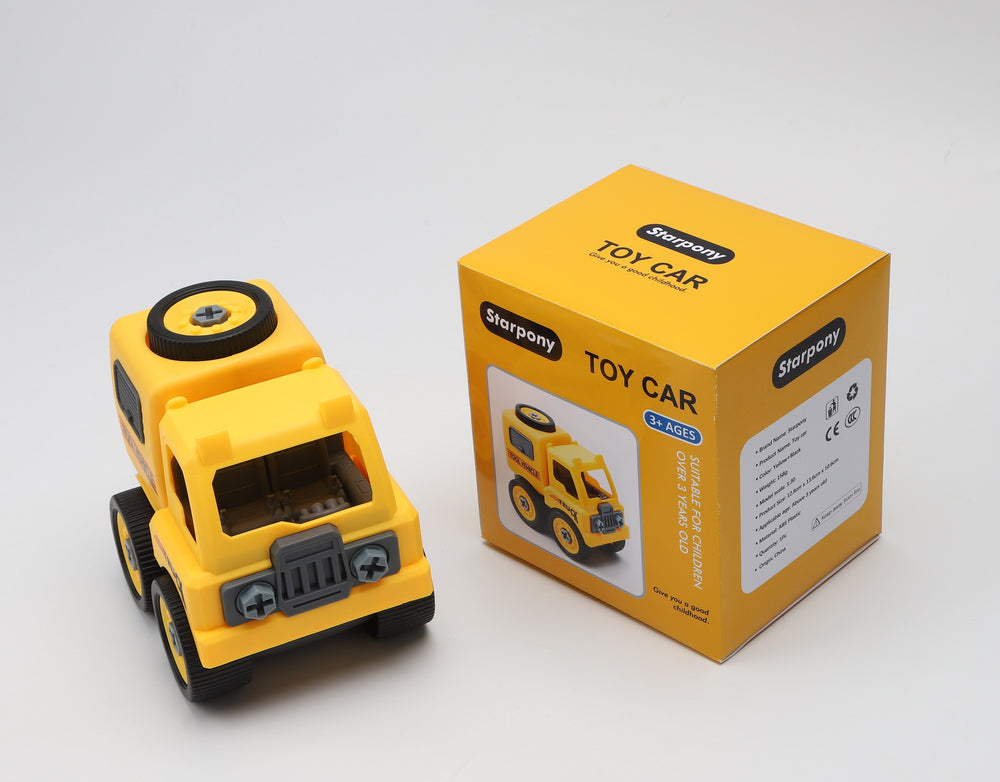 Starpony STEM Toy Car Educational Toy (Yellow)