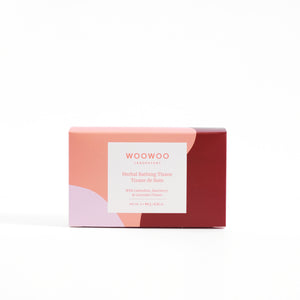 rectangular product package with woowoo pattern on it