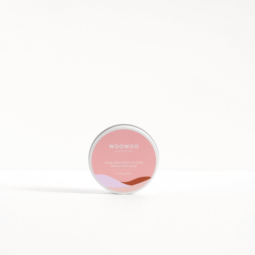 tin of shape shifter multi-use balm standing up