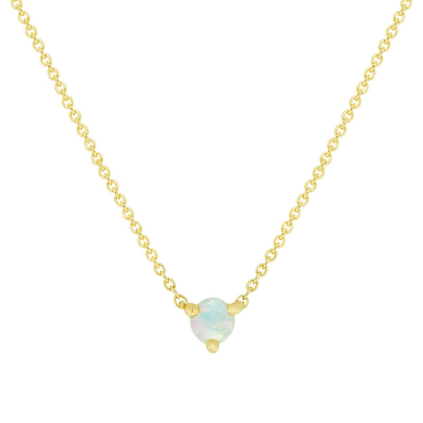 LILI OPAL SOLITAIRE NECKLACE