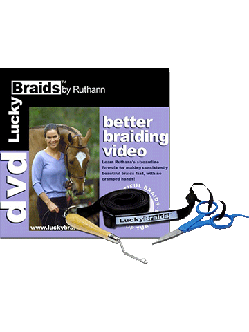 Lucky Braids DVD/Tool - Braid Like a Top Pro - Lucky Braids