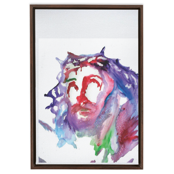Framed Canvas Wraps head of Christ