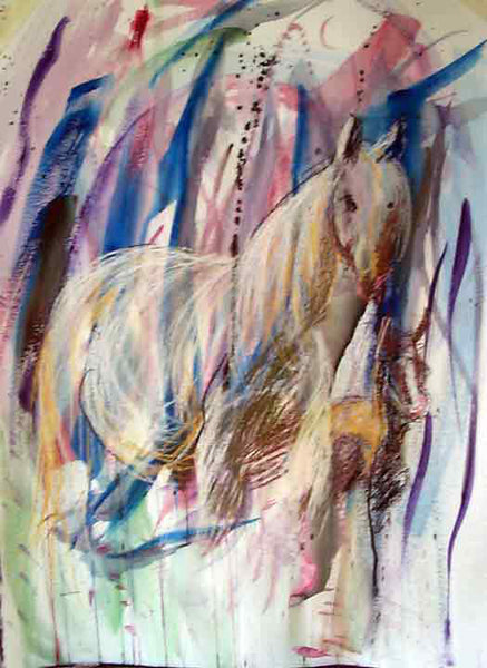 Letter sized signed glossy print - Ghost Horse