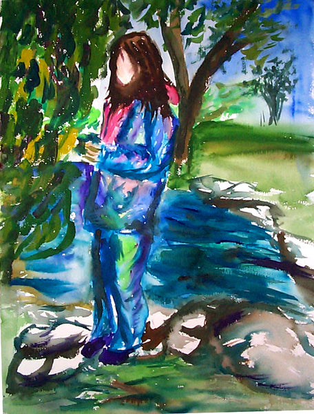 Letter sized signed glossy print -  Tonna by the Pond