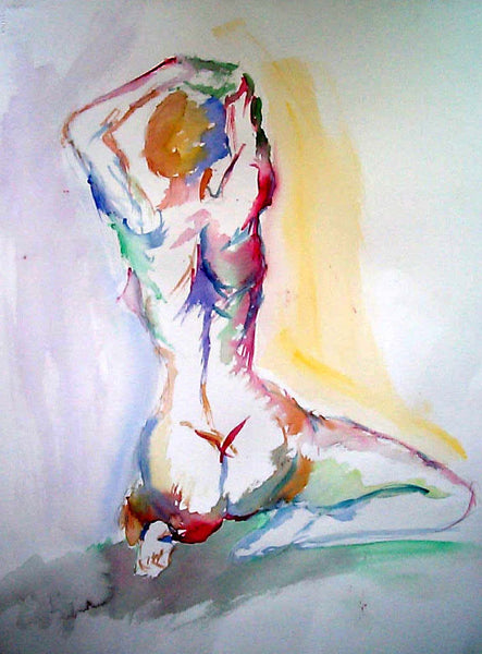 13x19 inch sized signed watercolor print - Artistic Nude