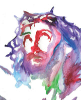 Letter sized signed glossy print -  Head of Christ