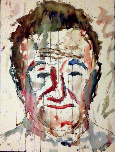 Open edition watercolor print of Robin Williams signed by artist - Dan Joyce art