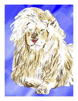 Leon the Lion - signed children's book print - Dan Joyce art