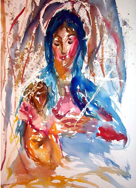 Letter sized signed glossy print -  Virgin and Child