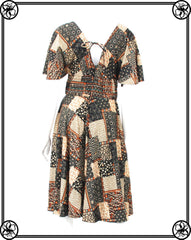 MISS SUGAR BOHEMIAN PRINT MIDI DRESS