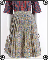 50'S 60'S BOHO PLEAT SKIRT