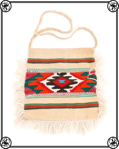 1970'S AZTEC FRINGE SHOULDER BAG