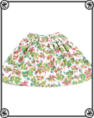 50'S WATERCOLOR FLORAL SKIRT