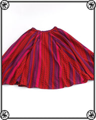 1970'S BOHEMIAN TRIBAL MIDI SKIRT