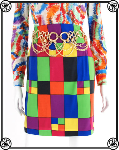 1990'S COLORBLOCK SKIRT