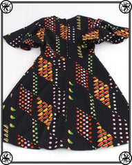 1970'S GEOMETRIC MINI DRESS