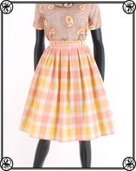 1950'S PASTEL PLAID SKIRT