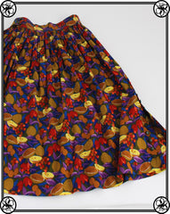 1980'S FRUIT PRINT SKIRT