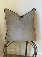 Load image into Gallery viewer, Luxury Biscuit Grey & Chocolate Brown Cushion with