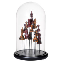 Load image into Gallery viewer, Chess Pieces in Glass Cloche