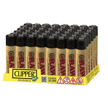 Load image into Gallery viewer, 48 Clipper RAW Printed Refillable Lighters - SirCheebaCBD