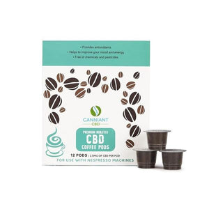 Canniant 30mg CBD Nespresso Coffee Pods - Pack of 12 - SirCheebaCBD