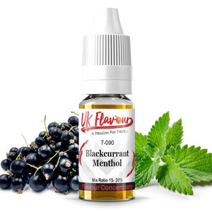10 x 10ml UK Flavour Menthol Range Concentrate 0mg (Mix Ratio 15-20%) - SirCheebaCBD