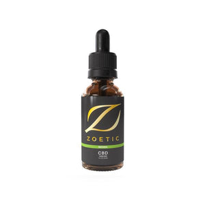 Zoetic 1000mg CBD Oil 30ml - Calming Natural - SirCheebaCBD