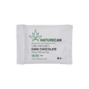 Naturecan 20mg CBD Infused Dark Chocolate 10g - SirCheebaCBD