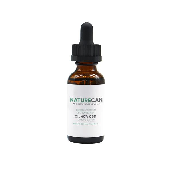Naturecan 40% 12000mg CBD Broad Spectrum MCT Oil 30ml - SirCheebaCBD