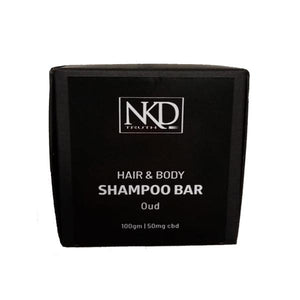 NKD 50mg CBD Speciality Body & Hair Shampoo Bar 100g - Oud - SirCheebaCBD