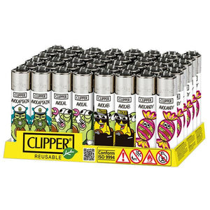 40 Clipper Refillable Printed Design Classic Lighters - SirCheebaCBD