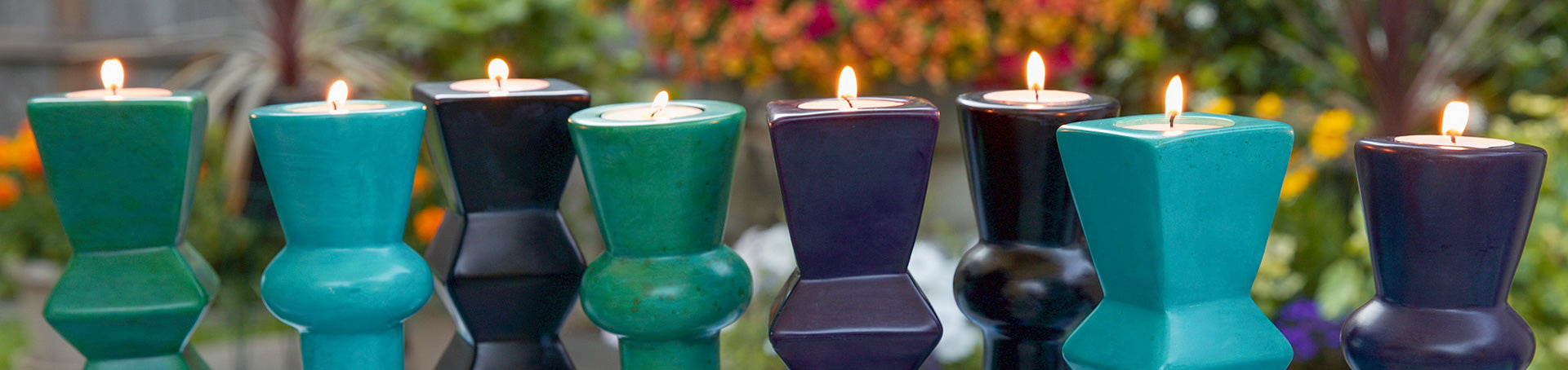 african candle holders
