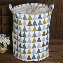 Load image into Gallery viewer, 35cmx45cm Folding Drawstring Port Dirty Clothes Laundry Basket For Toy Clothing Storage Bucket Laundry Organizer