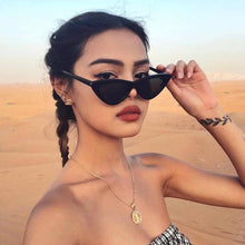 Load image into Gallery viewer, Vintage Cateye Sunglasses Women Sexy Retro Small Cat Eye Sun Glasses Brand Designer Colorful Eyewear For Female Oculos De Sol