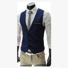 Load image into Gallery viewer, 2020 New Arrival Dress Vests For Men Slim Fit Mens Suit Vest Male Waistcoat Gilet Homme Casual Sleeveless Formal Business Jacket