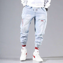 Load image into Gallery viewer, Streetwear Hip Hop Cargo Pants Men's jeans Cargo Pants Elastic Harun pants Joggers Pants In Autumn and Winter