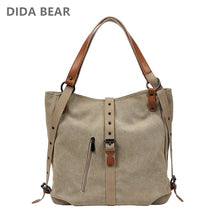 Load image into Gallery viewer, DIDABEAR Brand Canvas Tote Bag Women Handbags Female Designer Large Capacity Leisure Shoulder Bags Big Travel Bags Bolsas