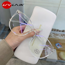 Load image into Gallery viewer, UVLAIK Transparent Computer Glasses Frame Women Men Anti Blue Light Round Eyewear Blocking Glasses Optical Spectacle Eyeglass