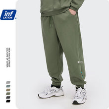 Load image into Gallery viewer, INFLATION Fleece Loose Fit Men Sweatpant In Pure Color 2020 Winter Elastic Waist Sweatpant Streetwear Men Outdoor Pants 3206W