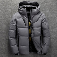 Load image into Gallery viewer, FGKKS Quality Brand Men Down Jacket Slim Thick Warm Solid Color Hooded Coats Fashion Casual Down Jackets Male