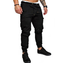 Load image into Gallery viewer, Men Safari Cargo thin Pants  Joggers Sweatpants Casual Male Sportswear Solid Multi-pocket Cargo Trousers Hip Hop Harem Slim Fit
