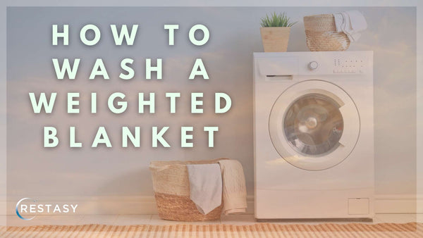 How to wash a weighted blanket - laundry day photo - Restasy.com
