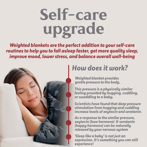 Weighted blanket self care upgrade - how a weighted blanket works