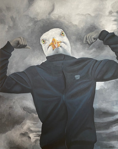 The Seagull: Strong, 100x80 cm