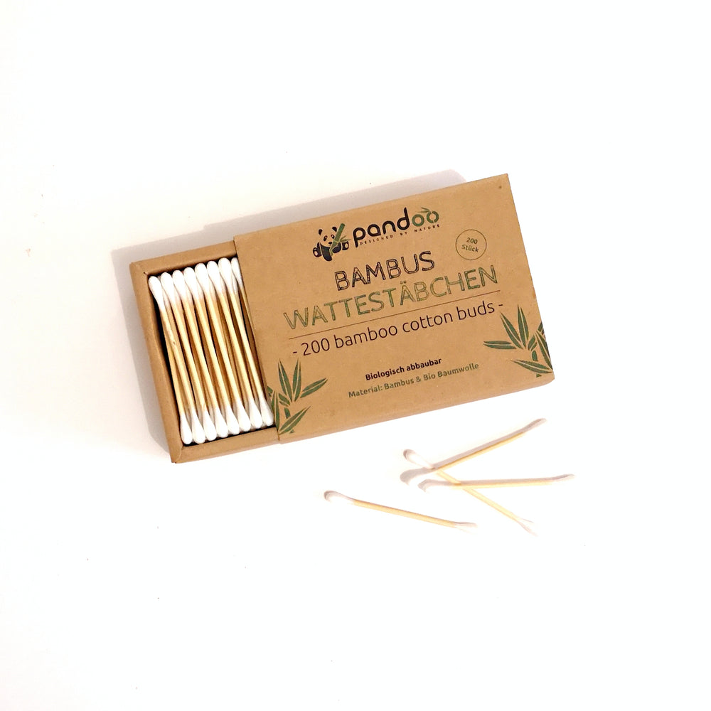 Plasticfree Cotton Buds of Bamboo and Organic Cotton (200 Pieces)