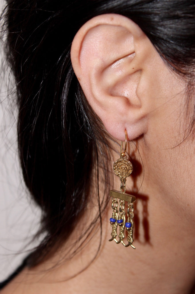 EARRINGS 'SARDINE'