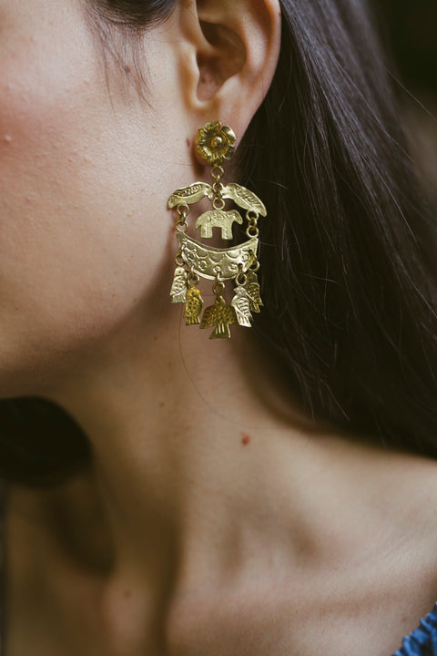 EARRINGS 'PARROT'