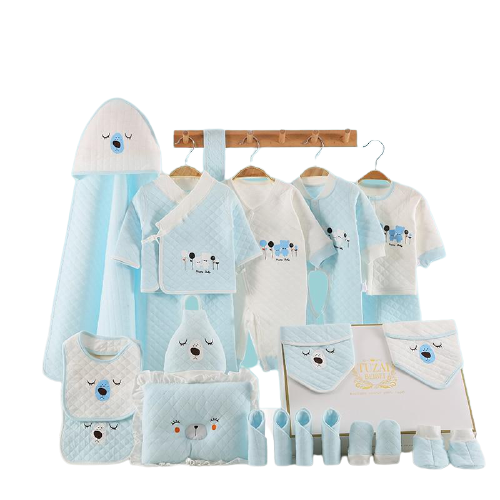 22 Piece set/Baby Clothing Sets (blue and white)