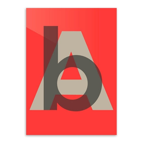 Abstract Letter Wall Art Picture Print